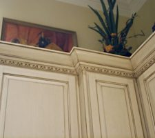 custom built kitchen molding
