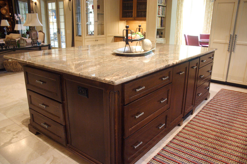 custom built kitchen island