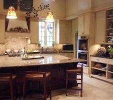 custom built kitchen island