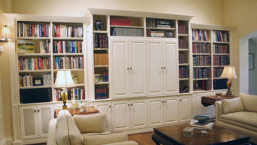 custom made entertainment center doors