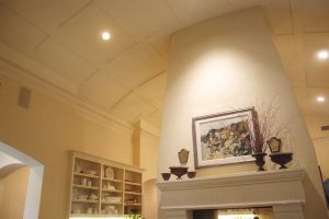 custom made fireplace ceiling