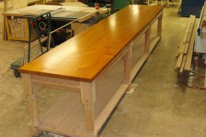 long custom built table